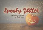 Spooky Glitter Font