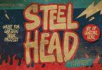 Steelhead - ligature cartoon font