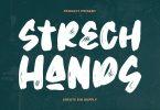 Strech Hands - Bold Brush Font