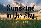 Sunshine in the Sky Font