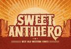 Sweet Antihero - Vintage western Font