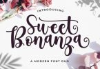 Sweet Bonanza Script Font