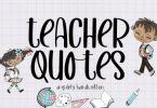 Teacher Quotes Font