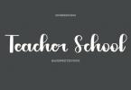 Teacher School Font