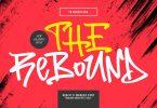 The Rebound Graffiti Marker Font