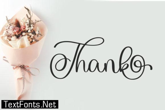 The Wedding Font