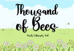 Thousand of Bees Font