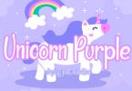 Unicorn Purple Font