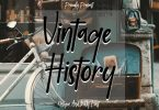 Vintage History Font