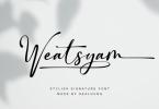 Weatsyam Font