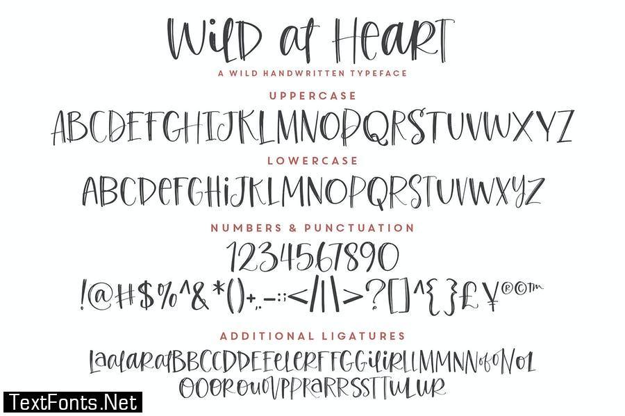 Wild at Heart Font