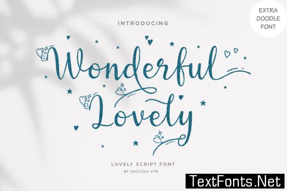 Wonderful Lovely Font