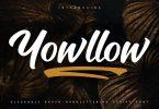 Yowllow | Brush Handlettering Script Font