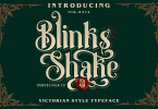 Blinks Shake Font