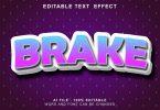 Brake 3d Text Effect