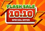 flash sale 1010 text effect