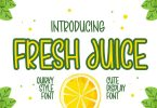 Fresh Juice - Quirky & Cute Display Font
