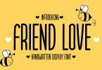Friend Love - Cute Display Font