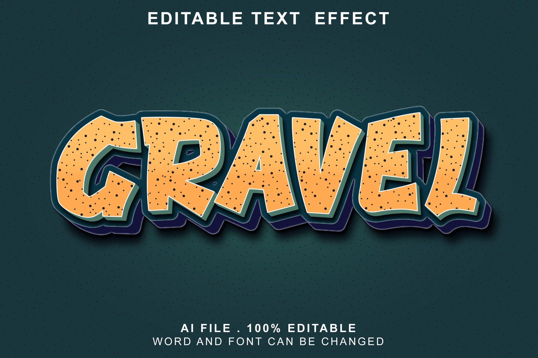 gravel 3d text effects