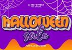 Halloween Sale 3d Text Effect