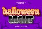 Hallowen Night 3d Text Effect