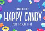 Happy Candy - Cute Display Font
