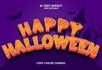 Happy Halloween 3d Text Effect