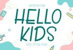 Hello Kids - Cute Handwritten Font