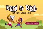 Keni&Rich - Fun Cartoon Display Font
