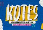 Kotes - Natural Handwritten Allcaps Font