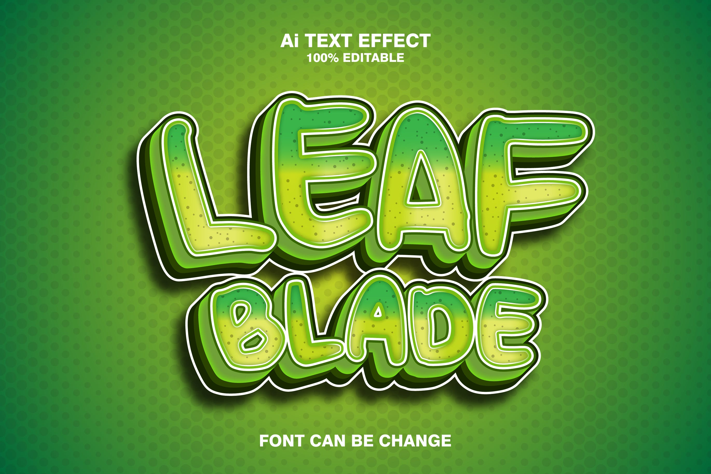 Leaf Blade 3d Text Effect