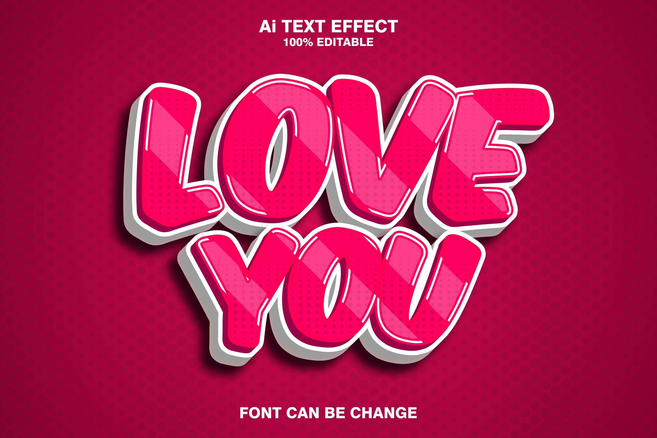 Love You 3d Text Effect