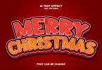 Mery Christmas 3d Text Effect