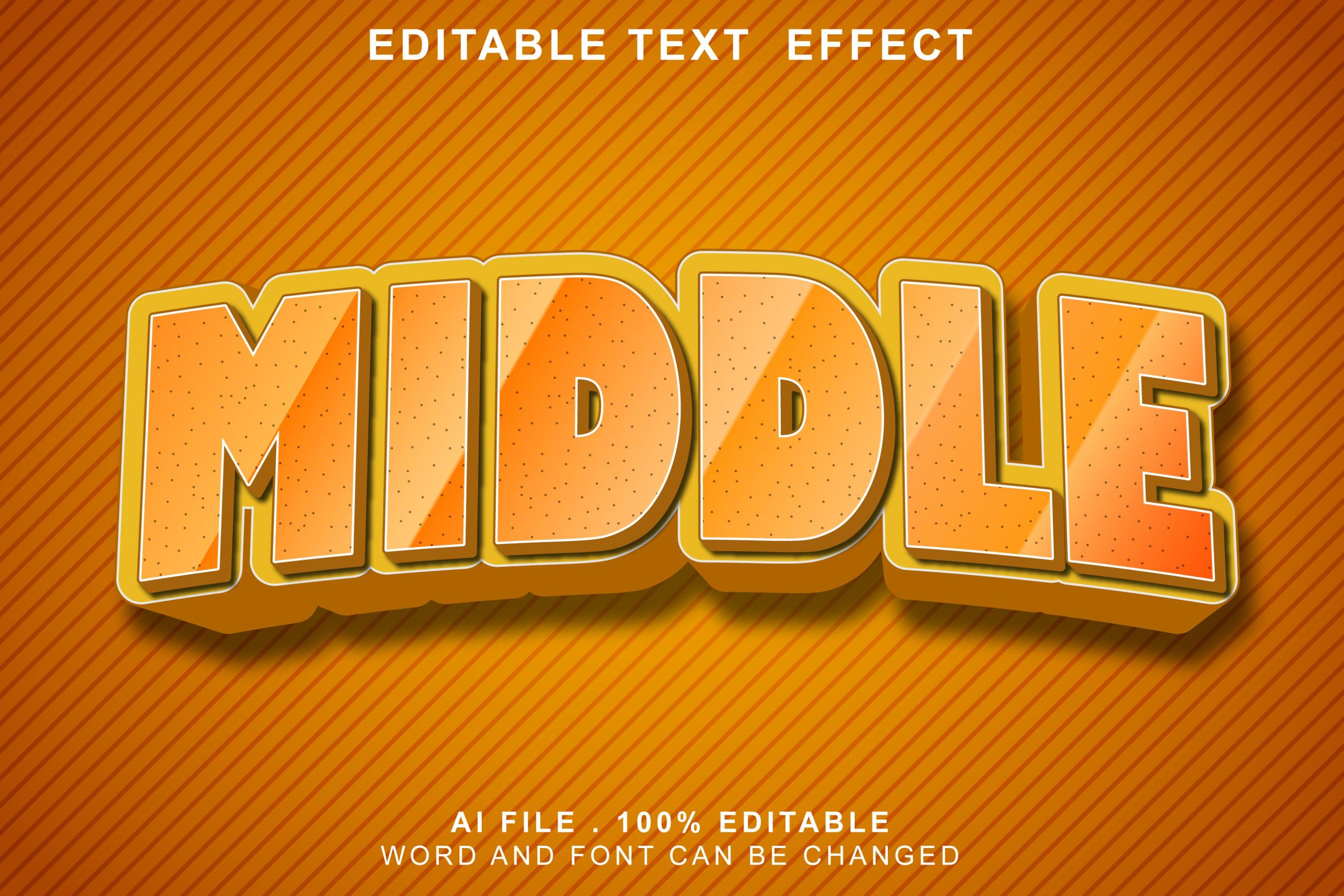 middle 3d text effects