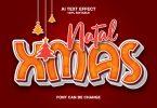 Natal Xmas 3d Text Effect ABQ824X