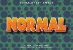 Normal 3d Text Effect