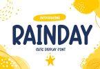Rainday - Cute Display Font