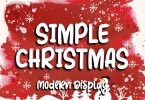Simple Christmas Font