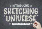 Sketching Universe - Pencil Sketch Font