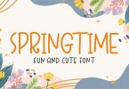 Spring Time - Fun and Cute Font