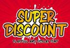 Super Discount - Playful Display Font
