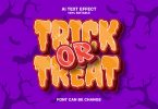 Trick Or Treat 3d Text Effect
