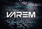 Varem - Modern Font